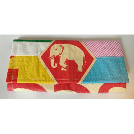 Portefeuille Eléphant multicolore