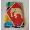 Petit Portefeuille Eléphant multicolore