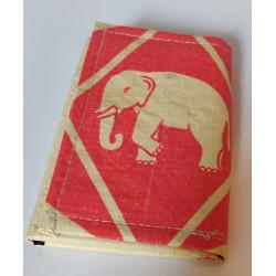 Petit Portefeuille Eléphant rouge crème