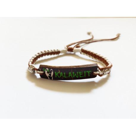 Bracelet Artisanal Rectangulaire - Marron Crème