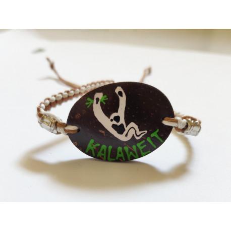 Bracelet Artisanal Oval - Marron Crème